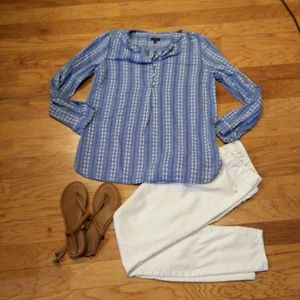 Talbots Cotton Peasant Blouse